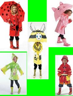 Wouldn't your child be adorable in these raincoats