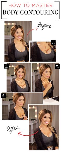 Get body contouring right! How to apply makeup correctly, info here: www.crazymakeupideas.tk