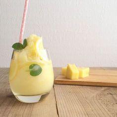 ミントとレモンで爽やかなフレーバーのスムージー http://macaro-ni.jp/12582