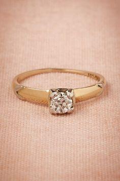 Deco Diamond Ring BHLDN : vintage engagement ring