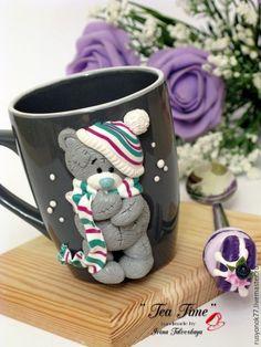 """Купить Кружка """"Мишка Тедди"""" - комбинированный, кружка ручной работы, кружка в подарок, кружка для чая"""