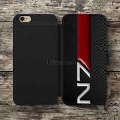N7 mass effect Wallet Case For iPhone 6S Plus 5S SE 5C 4S case, Samsung Galaxy S3 S4 S5 S6 Edge S7 Edge Note 3 4 5 Cases