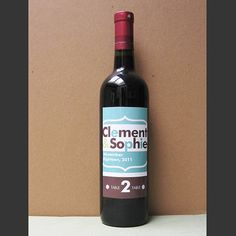 labels for wine as table numbers... cool idea for any party