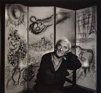 """Marc Chagall, photo by Yousuf Karsh. Chagall biographer Jackie Wullschlager wrote that """"On his canvases we read the triumph of modernism, the breakthrough in art to an expression of inner life that . Marc Chagall, Renoir, Famous Artists, Great Artists, Yousuf Karsh, Chagall Paintings, Arte Judaica, Inspiration Artistique, Keys Art"""