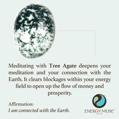 Click the pin for more Spiritual Healing. Meditating with Tree Agate deepens your meditation and your connection with the Earth. It clears blockages within your energy field to open up the flow of money and prosperity. Crystals Minerals, Crystals And Gemstones, Stones And Crystals, Gem Stones, Crystal Healing Stones, Crystal Magic, Crystal Guide, Quartz Crystal, Reiki