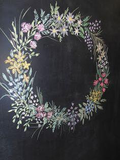 ζωγραφική σε μαυροπίνακα Grapevine Wreath, Grape Vines, Tapestry, Wreaths, Blog, Home Decor, Hanging Tapestry, Tapestries, Decoration Home