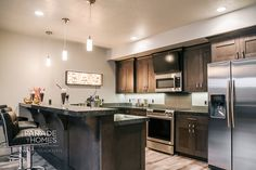 Salt Lake Parade of Homes flooring and cabinet contrast/combo
