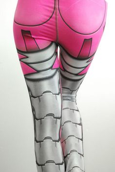 SECONDS Sale  Bionic Leggings  OLD Size XL Hot Pink  by Mitmunk
