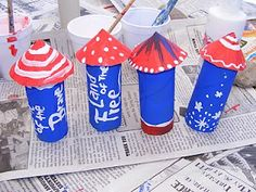Preschool Crafts for Kids*: 4th of July Toilet Paper Roll Rocket Craft