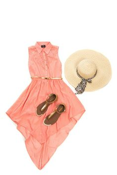 Dress up with a coral dress gold sandals and sun hat this summer with Jam Clothing. Coral Dress, Gold Sandals, Christmas Treats, Sun Hats, Fashion Brands, Kids Outfits, Dress Up, Rompers, Lady