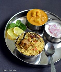 Coimbatore Angannan Biryani Recipe With Vegetables-Sunday Lunch Recipes Lunch Recipes, Vegetable Recipes, Cooking Recipes, Veggie Food, Rice Recipes, Cooking Tips, Vegetarian Cooking, Vegetarian Recipes, Healthy Recipes