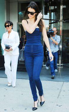 Kendall Jenner looks beautiful in blue.