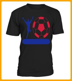 Football and player on banner add your team name - Tischtennis shirts (*Partner-Link)