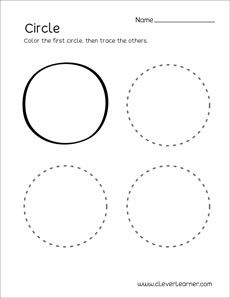 Circle worksheets and circle shape identification activities for pre-school and kindergarten kids. Shape Activities Kindergarten, Shape Worksheets For Preschool, Shapes Worksheets, Drawing Activities, Toddler Learning Activities, Preschool Colors, Preschool Crafts, Circle Drawing, Pattern Worksheet