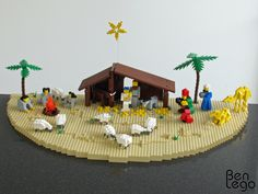 photo of Lego nativity. See other pin for link to instructions.