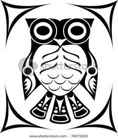 Native american owl tattoo - photo#20