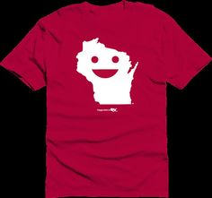 Happy State Co. Wisconsin Happy State Tshirt red by HappyStateco, $20.00