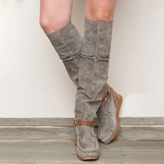 Iuhan Clearance Ladies Knee High Boots Western Coyboy Boots Wedge Boots Women's Retro Wedges Over Knee Long Boots Booties Casual Shoes Ankle Platform Boots Flat Heel Boots, Wedge Boots, Bootie Boots, Long Boots, Mid Calf Boots, Knee High Boots, Fashion Slippers, Comfortable Boots, Low Heels