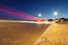 Night motion on urban streets by fm_photography