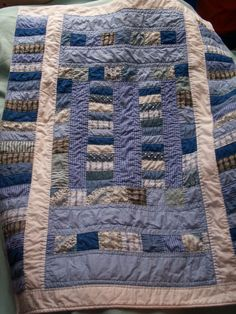 Quilt made from shirts, I like the pattern