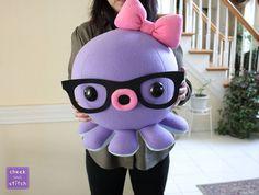 Huge Octopus Plush! by yumcha.deviantart.com