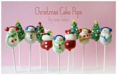 Christmas Wonderland Cake Pops: Stockings, Penguins, Santa Hats, Holly Leafs, Christmas Trees and more! Christmas Tree Cupcakes, How To Make Christmas Tree, Christmas Sweets, Noel Christmas, Christmas Baking, Christmas Pops, Christmas Recipes, Christmas Ideas, Holiday Cakes