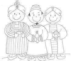 Os 3 reis magos para imprimir (10 desenhos)