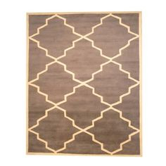 @Overstock - With a distinctive style, a gorgeous area rug from India will add some splendor to any decor. This Mahal area rug is hand-tufted with a geometric pattern in shades of gray and ivory.http://www.overstock.com/Worldstock-Fair-Trade/Indo-Hand-tufted-Gray-Ivory-Wool-Rug-8-x-10/7292052/product.html?CID=214117 $469.99