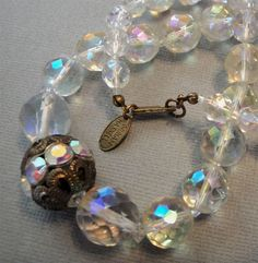 Eye Candy Antiques - Miriam Haskell signed necklace!  What a beauty!
