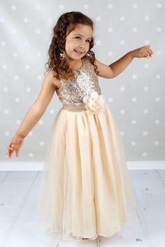 Sequins flower girl dresses Pageant Dress Party dress Baptism Dress