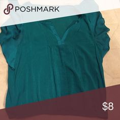 American eagle shirt Pretty shade of green with fun flowing sleeves!! American Eagle Outfitters Tops