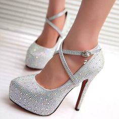 2019 crystal pumps women shoes platform high heels wedding shoes bride red silver platform high heels ladies shoes woman - red 8 Source by CreativeDreamscape Shoes wedding Platform High Heels, High Heels Stilettos, Stiletto Heels, Ankle Heels, Women's Pumps, Wedge Wedding Shoes, Wedding Heels, Wedding Bride, Cinderella Wedding