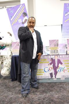 Mark Ress of Blitz Media Marketing having some fun posing for picture #2 at the I.E. Largest Mixer 2011