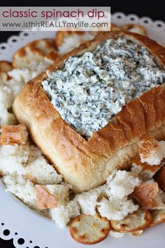 Classic Spinach Dip from Is this Really my Life? {Christmas Tradition Series}