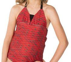 Tankini Top in Rio Red Fin Fun Mermaid, Tankini Top, Swimsuits, Bikinis, Swimsuit Tops, Scarlet, Rio, Formal Dresses, Fashion