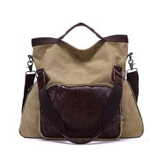 54a9f074b0c7 Hot-sale designer Women Vintage Canvas Tote Bags Front Pocket Shoulder Bags  Crossbody Bags Capacity