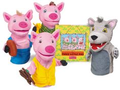 The Three Little Pigs Storytelling Puppet Set at Lakeshore Learning