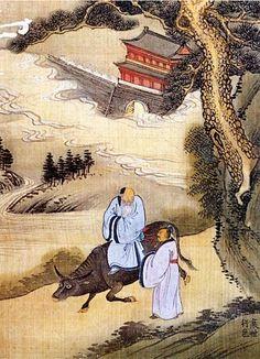 (Korea) 노자출관 by Jeong Seon watercolor on silk. National museum of Korea. Korean Painting, Chinese Painting, Chinese Art, Chinese Brush, Painting Inspiration, Art Inspo, Korean Picture, Asian Artwork, Asian Landscape