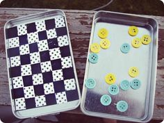 Mini Checkers Game in an Altoid Tin by A Girl and A Glue Gun