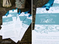 Wedding Bookmark Party Favours