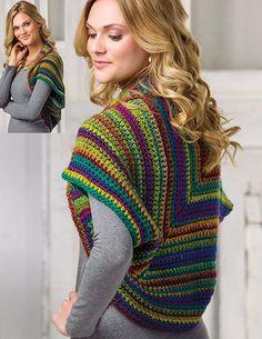 Women's shrug crochet pattern
