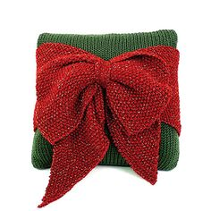 Buy Free Pattern Caron Christmas Bow Cushion from the Knitting Patterns range at Hobbycraft. Free UK Delivery over and Free Returns. Christmas Knitting Patterns, Knitting Patterns Free, Knit Patterns, Free Knitting, Free Pattern, Pillow Patterns, Knitting Supplies, Knitting Projects, Knitting Ideas