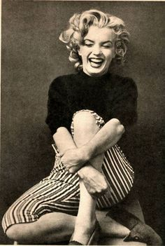 i love when people have laughter lines, you know they have been happy. Marilyn Monroe was so loved because of her smile. She enjoyed every moment in her life and made everyone around her happy. A smile can change the world.
