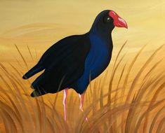 Pukeko Paint And Sip, Paintings, Birds, Animals, Animales, Paint, Animaux, Painting Art, Bird