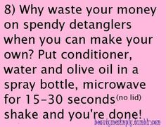 Homemade  detangler!