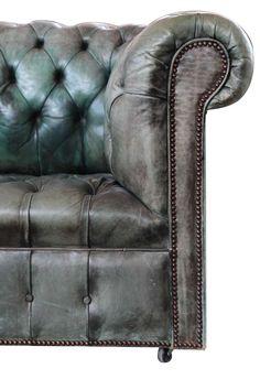 Family Room @Cratref | Ralph Lauren | Green Chesterfield Sofa