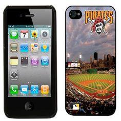 Pittsburgh Pirates PNC Park Stadium iPhone 4 Case - Black