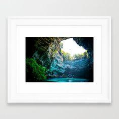 Sea Cave in Greece Framed Art Print by azima Framed Art Prints, Fine Art Prints, Sea Cave, Over The River, Make Ready, Summer Of Love, Greece, Yoga Meditation, Namaste