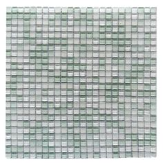 ABOLOS Petite Ice Cube Green 11.7 in. x 11.7 in. 3.125 mm Glass Mosaic Tile, Green/Glossy