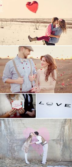 Different Valentines styled sessions